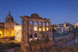 Roman Forum (Unesco World Heritage Site) at Dusk, Rome, Lazio, Italy Photographic Print by Ian Trower