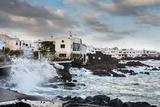Rough Sea, Punta De Mujeres, Lanzarote, Canary Islands, Spain Photographic Print by Sabine Lubenow