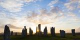 Sunset, Callanish Standing Stones, Isle of Lewis, Outer Hebrides, Scotland Fotografie-Druck von Peter Adams