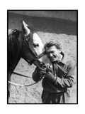 Jean Marais with a Horse Papier Photo par Marcel Begoin