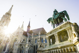 Hungary, Budapest, Matthias Cathedral, Statue of King Stephen Photographic Print by Karl Thomas