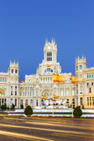 Spain, Madrid. Plaza De Cibeles with Famous Fountain and Town Hall Building Behind Photographic Print by Matteo Colombo