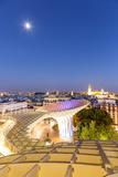 Spain, Andalusia, Seville. Metropol Parasol Structure and City at Dusk Photographic Print by Matteo Colombo