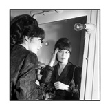 Juliette Greco Preparing to Go on Stage Photographic Print by Marcel Begoin