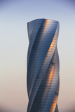 Bahrain, Manama, Bahrain Bay, United Tower also Called the Twisting Tower Photographic Print by Jane Sweeney