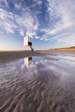Wooden Lighthouse on Burnham Beach at Low Tide, Burnham-On-Sea, Somerset, England. Winter Photographic Print by Adam Burton