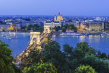 Hungary, Budapest, Chain Bridge, River Danube Photographic Print by Karl Thomas