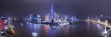 Pudong Skyline across the Huangpu River, Shanghai, China Fotografie-Druck von Jon Arnold