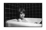 Mireille Darc in Her Bath, 1966 Photographic Print by  DR