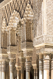 Spain, Andalusia, Granada. the Alhambra. Ornate Arches Inside the Alhambra Photographic Print by Matteo Colombo