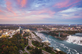 View over Victoria Park Towards Rainbow Bridge and the American Falls, Niagara Falls Photographic Print by Jane Sweeney