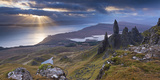 Old Man of Storr, Isle of Skye, Scotland. Autumn (November) Fotografisk tryk af Adam Burton
