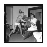 Johnny Hallyday Boxing Photographic Print by Marcel Begoin