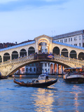 Italy, Venice. Grand Canal and Rialto Bridge Photographic Print by Matteo Colombo