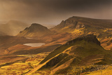 Spectacular Light over the Trotternish Range from the Quiraing in the Isle of Skye, Scotland Photographic Print by Adam Burton