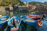 Moored Fishing Boats in the Small Port of Vernazza, Cinque Terre, Liguria, Italy Photographic Print by Stefano Politi Markovina
