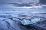 Jokulsarlon Ice Beach in Southern Iceland, Europe Photographic Print by Adam Burton