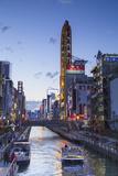 Dotombori at Dusk, Osaka, Kansai, Japan Photographic Print by Ian Trower