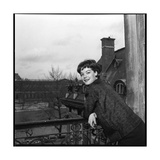 Romy Schneider on a Balcony Photographic Print by Marcel Begoin