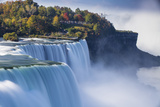 Canada and USA, Ontario and New York State, Niagara, Niagara Falls, the American and Canadian Falls Photographic Print by Jane Sweeney