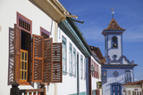 Colonial Architecture and Church of Amparo, Diamantina (Unesco World Heritage Site), Minas Gerais Photographic Print by Ian Trower