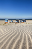 Beach Baskets on the Beach, Sylt Island, Northern Frisia, Schleswig-Holstein, Germany Photographic Print by Sabine Lubenow