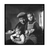 Jean Gabin and His Children Photographic Print by  DR