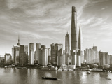 Shanghai Tower and the Pudong Skyline across the Huangpu River, Shanghai, China Photographic Print by Jon Arnold