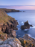 Looking Towards Land's End from the Cliffs Above Sennen, Cornwall, England. Spring Photographic Print by Adam Burton
