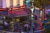 Paris Cafe, Paris, France Fotografie-Druck von Peter Adams