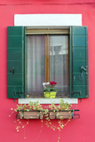 Italy, Veneto, Venice, Burano. Typical Window on a Colorful House Photographic Print by Matteo Colombo