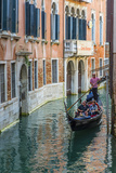 Gondola Boat Passing Through a Narrow Canal, Venice, Veneto, Italy Photographic Print by Stefano Politi Markovina