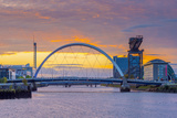 UK, Scotland, Glasgow, River Clyde, Finnieston Crane and the Clyde Arc, Nicknamed Squinty Bridge Photographic Print by Alan Copson