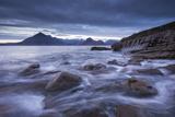 Waves Rush around the Rocky Shores of Elgol, Isle of Skye, Scotland. Winter (December) Photographic Print by Adam Burton