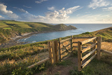 Kissing Gate on the South West Coast Path Near Crackington Haven, Cornwall, England Photographic Print by Adam Burton