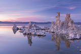 Salt Pillar Formations at Sunset, South Tufa, Mono Lake, California, USA Photographic Print by Adam Burton