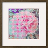Pink Flower Diamonds Posters by Ashley Davis