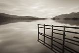 Tranquil Derwent Water at Dusk, Lake District, Cumbria, England. Autumn (October) Photographic Print by Adam Burton