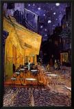 O Café Terrace na Praça do Fórum, Arles, à noite, cerca de 1888 Pôsteres por Vincent van Gogh