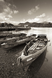 Wooden Rowing Boats on Derwent Water, Keswick, Lake District, Cumbria, England. Autumn Photographic Print by Adam Burton