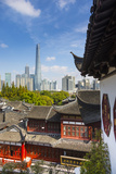 Yuyuan Gardens and Bazaar with the Shanghai Tower Behind, Old Town, Shanghai, China Photographic Print by Jon Arnold