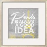 Paris Yellow Prints by Jace Grey