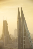 Bahrain, Manama, City Center Skyline Looking Towards Bahrain World Trade Center Photographic Print by Jane Sweeney