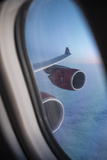 Airbus A340 Aircraft, View Out of the Window with Engine and Wing Photographic Print by Jon Arnold