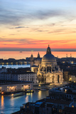 Italy, Venice, Santa Maria Della Salute Church from the Campanile at Sunset Photographic Print by Matteo Colombo