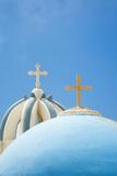Church Domes in Firostefani, Santorini (Thira), Greece Photographic Print by Nadia Isakova