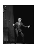 Johnny Hallyday on the Famous Olympia's Stage, Paris, 1960'S Photographic Print by Marcel Begoin