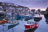 Sunrise over the Picturesque Harbour at Mevagissey, Cornwall, England. Spring Photographic Print by Adam Burton