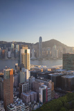 View of Hong Kong Island and Tsim Sha Tsui Skylines, Hong Kong Photographic Print by Ian Trower