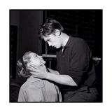 Romy Schneir and Alain Delon Sharing a Moment, 1960'S Papier Photo par Marcel Begoin